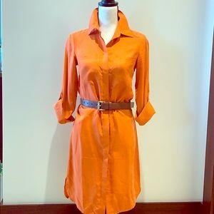 Michael Kor's silk shirt dress with belt